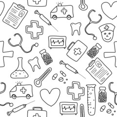 Medical background - doodle backdrop