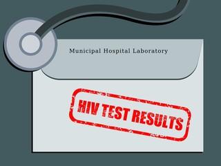 HIV test results - vector illustration