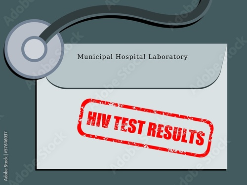 HIV test results - vector illustration