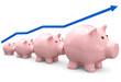 Sparschweine Wachstum