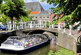 Tourist boat in Delft