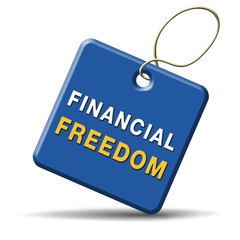 financial freedom sign
