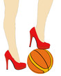 The nice legs of a sporty woman