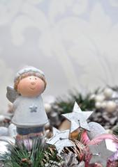 Engelchen auf Adventskranz
