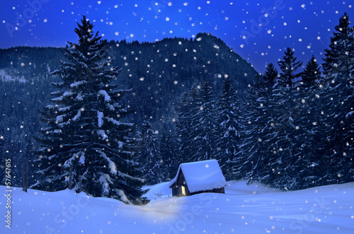 canvas print picture Winter Christmas
