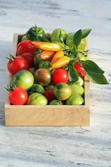 Reife Tomaten und Peperoni