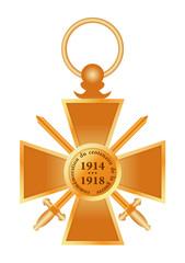 Croix de guerre - commémoration du centenaire 1914-1918