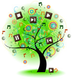 Tree of music (vector)