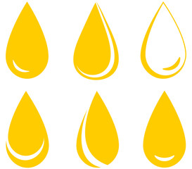 set of oil drops