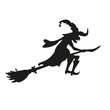 Halloween witch. Silhouette. Isolated.