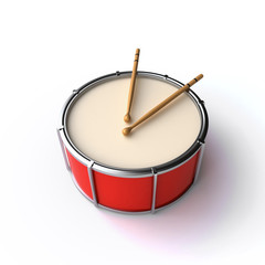drum with sticks