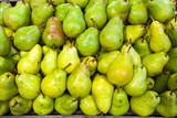Pears in food store