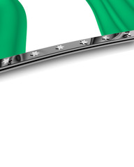 Designelement Flagge Nigeria