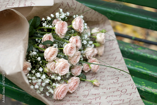exquisite bouquet of small roses