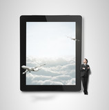 touch pad with airplane