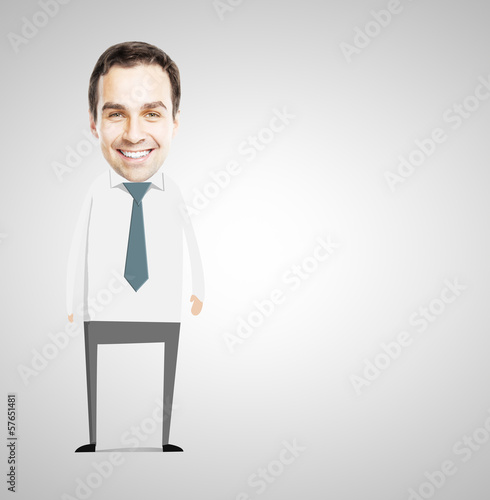 abstract smile businessman