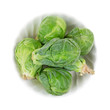 Fresh Brussels Sprouts In A Small Bowl
