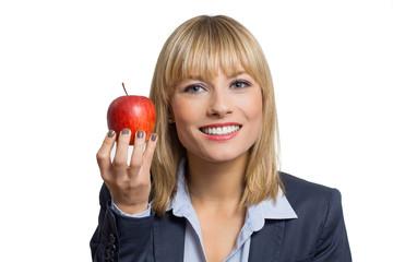 Businesswoman likes Apple