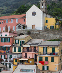 Vernazza Buildings and Church