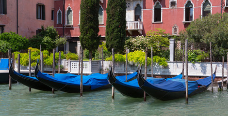 Gondolas and Building in Venice