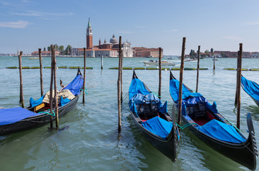 Blue Gondolas of Venice