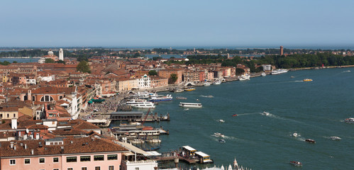 Venice Waterfront from High Up