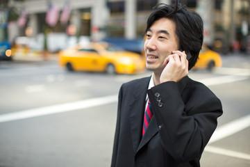 Asian businessman in New York City street