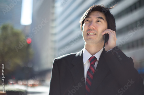 Asian businessman in New York City street