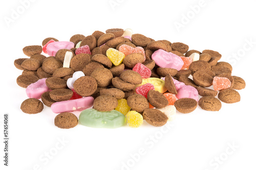 Pile of ginger nuts. Candy at Dutch  Sinterklaas event