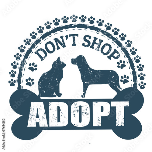 Don't shop adopt stamp