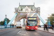 Traffic on Tower Bridge in London