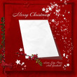 Red Christmas background with space for letters to Santa
