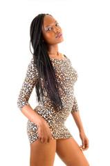 Pretty black tall woman