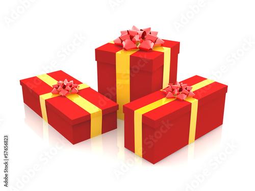 3D - Christmas Gift Boxes (I)