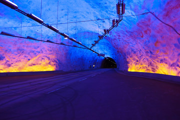 Famous Laerdal Tunnel in Norway