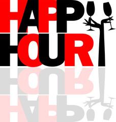 Happy Hour logo con mani