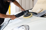 Car care with polishing machine
