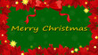 A red and green christmas card template
