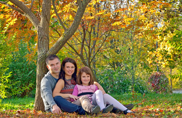 young family spending time outdoor