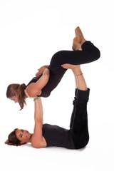 Acro Yoga Lifted Baddhakonasana