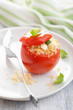 stuffed tomato with couscous and feta