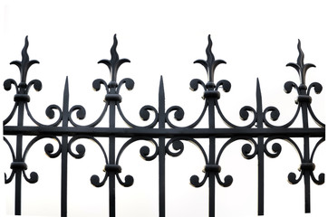 fer forgé d'une clôture