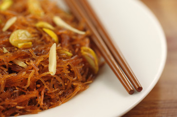 Sweet vermicelli with chopstick