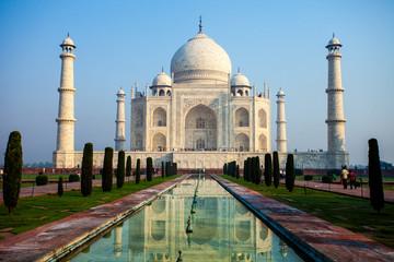 Taj mahal.famous historical monument in India,Agra,Uttar Pradesh