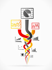 Abstract race vector illustration with concept infographics