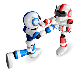The Blue robots and Red robot boxing matches. Create 3D Humanoid