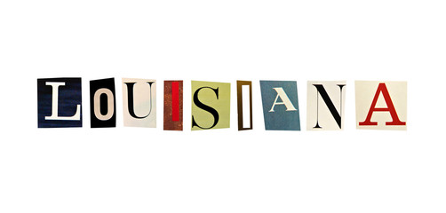 Louisiana word formed with magazine letters