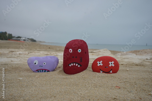 Monsters joke on the beach