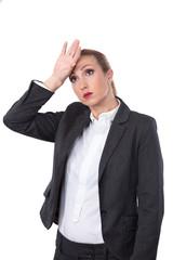 Frau im Stress hat Sorgen