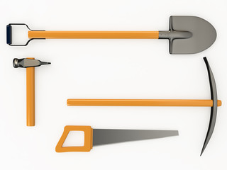 Set of tools, 3D